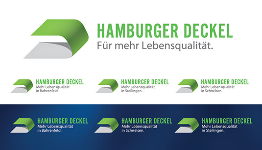 Branding hamburger deckel studio logotipo